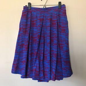 Lularoe Printed Pleated Madison Skirt